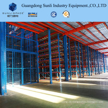 Metalldeck Rack Mezzanine mit SGS / ISO für Warehouse Storage